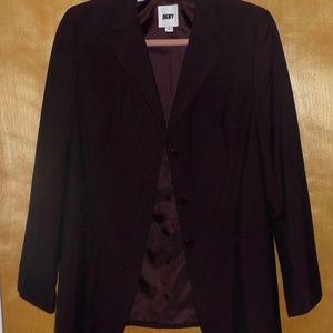 DKNY Donna Karan KDark Brownish Plum Suit Sz 6